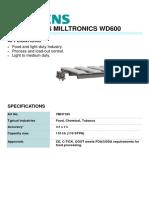 7MH7185 SIEMENS MILLTRONICS WD600 BELT SCALE