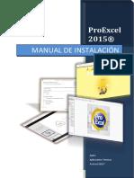 Manual de Instalación ProExcel2015