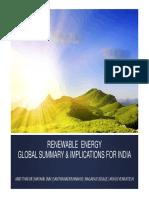 Renewable Energy-Global Summary & Implications for India