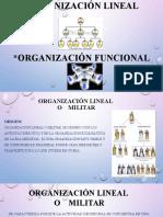 Organización Lineal Y FUNCIONAL [118718]