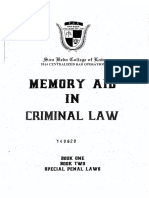 Reviewer - Criminal Law - San Beda Memory Aid (2014)