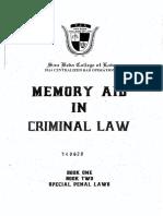 Reviewer - Criminal Law - San Beda Memory Aid (2014)