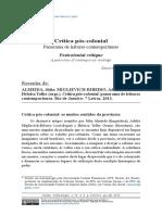 Crítica Póscolonial - Panoramas de Leituras Contemporâneas