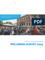 20160713 Greater Bendigo Wellbeing Survey Results 13 July 2016