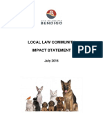 20160720 Review of Animal Keeping Local Law Impact Statement 20 July 2016