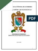 PLAN_2007_Maestría en Estadística Aplicada Uagro