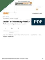 India's E-commerce Power List 2015