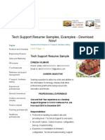 Tech Support Resume Samples, Examples - Download Now!