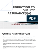 Introduction to Quality Assurance(Qa)