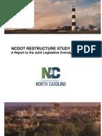 NCDOT Restructure Report