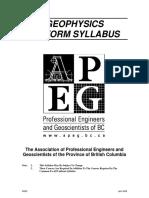 APEGBC Geo Syllabus Geophysics 2006
