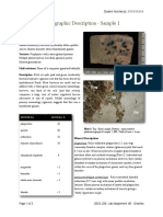 Example of Petrographic Report