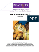 MSc Dissertation Pack 1516