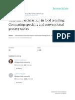 Customer Satisfaction in Food Retailing