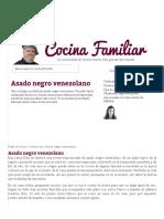 Asado Negro Venezolano - Cocina Familiar
