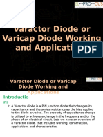 Varactor Diode or Varicap Diode Working and Applications