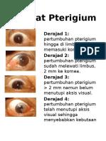 Derajat Pterigium