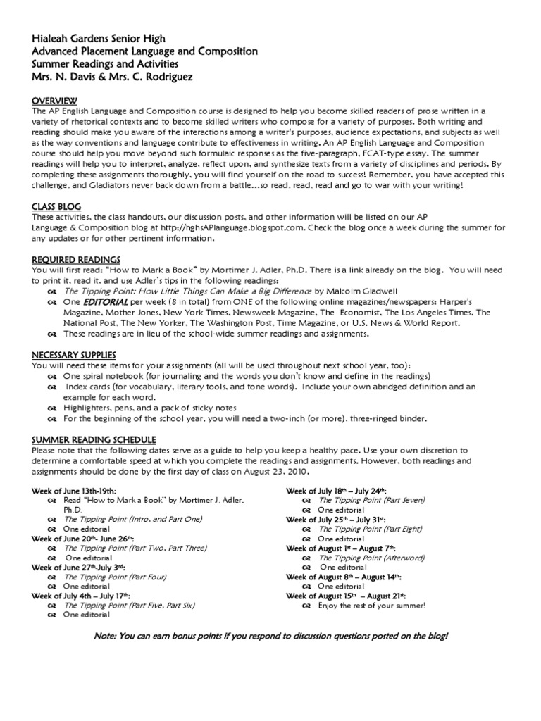 ap language summer learning reading process blog rh scribd com Focus Group Discussion Guide Discussion Guide Template