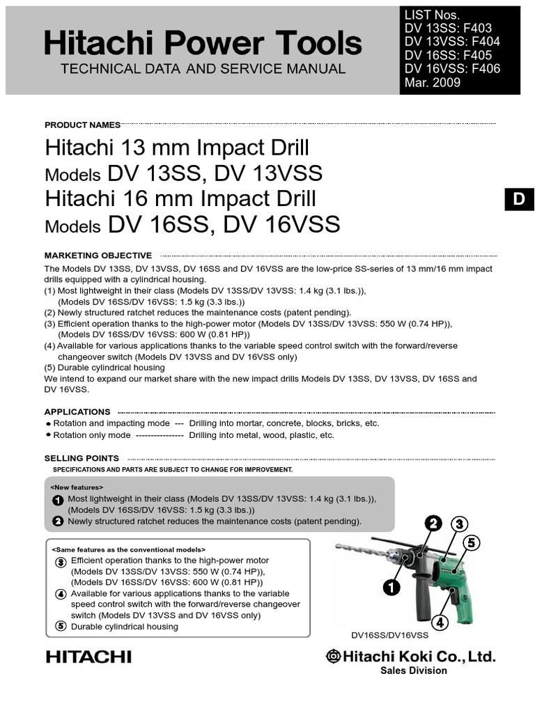 HITACHI 322-625 DRILL CHUCK 13 FOR DRILL