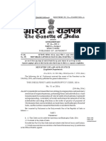 The Insolvency and Bankruptcy Code, 2016-Gazette With Presidential Assent