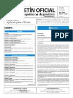 Boletín Oficial de la República Argentina, Número 33.422. 20 de julio de 2016