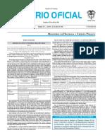 Diario oficial de Colombia n° 49.935. 15 de julio de 2016
