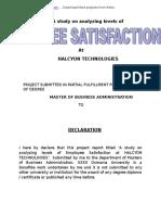 MBA HR -Analyzing Employee Satisfaction-Students3kcom