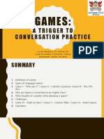 Games - A Trigger to Conversation Practice