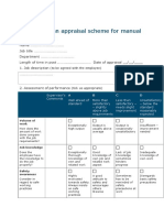 B2 Appraisal Form for Manual Workers