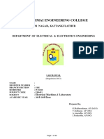 EE6411 Electrical Machines I Laboratory