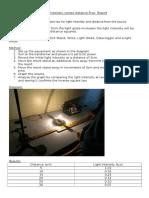 Inverse Square Law Prac Report