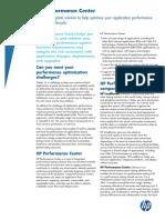 HP Performance Center Brochure