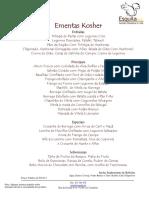 Ementas Kosher OrtodoxasSP