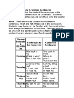 Daily Grammar Sentences