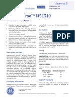 GE Hypersperse MS1310 Antiscalant Antifoulant