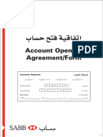 Account Opening Agreement Form