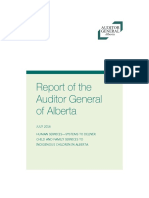 Auditor General - Systems to deliver child and family services to indigenous children in Alberta
