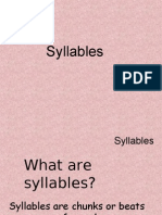 Syllables and Iambic Pentameter
