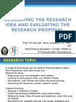 Generating Researh Idea
