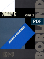 Turbo C 1.5 Additions and Enhancements 1987