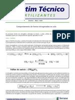 Comportamento de Fontes Nitrogenadas no Solo