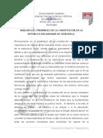 Analisis Del Preambulo Constitucional