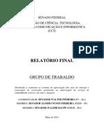 CCT-SF - Relatorio GT Outorgas RDF - 2011
