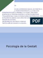 Psicologia de La Gestalt