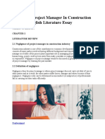 Negligence Project Manager in Construction Industry English Literature Essay