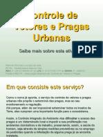 Controle de pragas urbanas