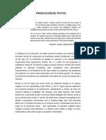 Didáctica de La Producción de Textos