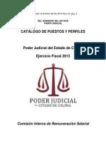 12-Enero-2013-Catálogo de Puestos y Perfiles Del Poder Judicial