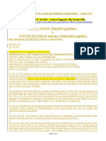 Federal Reserve Not Govt Agency Case Usca (9th) Lewis v United States of America_1982!06!24_(as Amended) (4 Pgs)