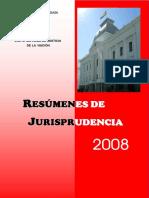 Resumenes de Jurisprudencia 2008